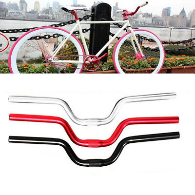 Fixed Gear Fixie Bike Bicycle Cycling Alloy Riser Handlebar Handle Bar 25.4mm