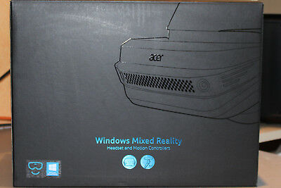 ACER Windows Mixed Reality Headset AH101 VR Brille + 2 Controller blau mit OVP