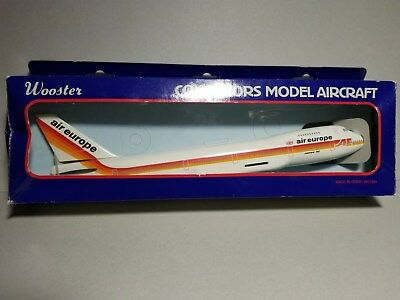 Wooster Air Europe Airlines 747-200 1:250 Scale Plastic Snapfit Model