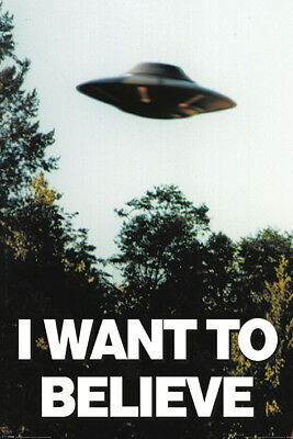 X Files - I Want To Believe 91.5 X 61Cm Poster New Official Merchandise