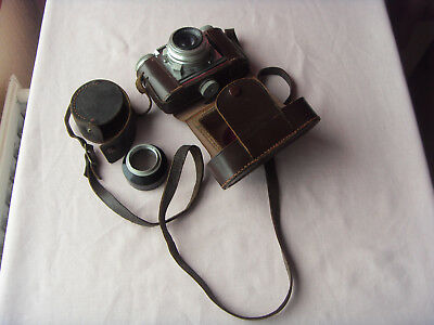 Vintage - Braun Paxette Pointikar  Camera With Case And Lens