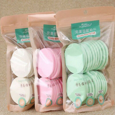 20PCS Face Facial Washing Sponge Makeup Remover Cleaning Pad Puff Exfoliator