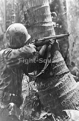 WW2 Picture Photo Solomon Islands 1943 US Marine with M1 Garand rifle 2356