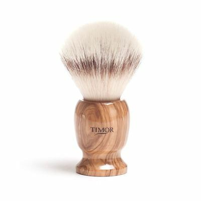 Timor Synthetic Fibre Shaving Brush with Olive Wood Handle 2002 (stand included)