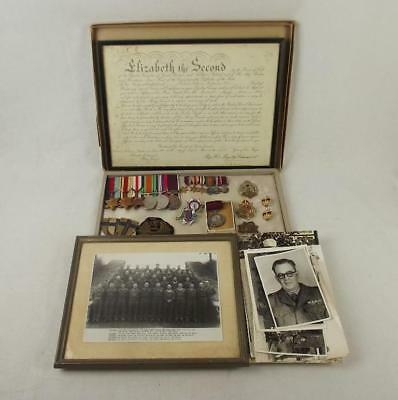 WW2 Medal Set Plus Badges, Photographs Etc-  W.O. II (C.S.M) M.W.F. Pettet - Roy
