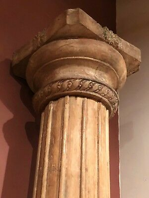 Pair of Carved Antique Teakwood Architectural Columns from India