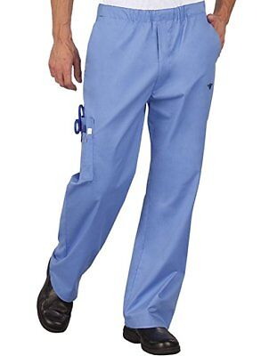 Peaches 'Med Couture Men's Cargo Pant' , NWT, Ceil/Navy, Extra Small