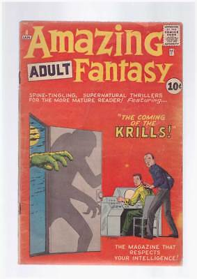 Amazing Adult Fantasy # 8  Coming of the Krills !  grade 3.5 scarce Atlas book