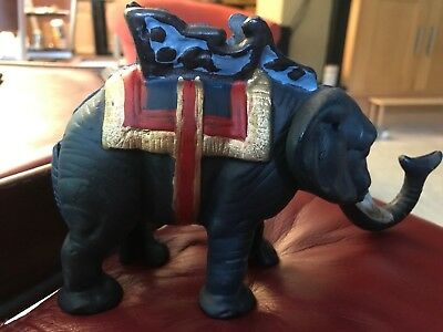 Vintage Cast Iron Circus Elephant Bank