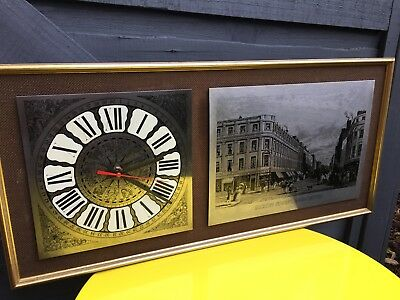 Vintage Market St Manchester Stainless Still Etching and Astrological Wall Clock