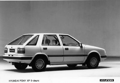 1987 Hyundai Pony XP Factory Photo Korea ua3411-BOXICC