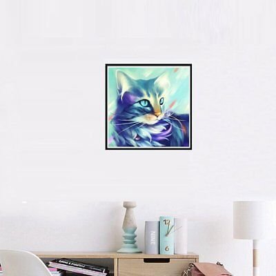 9870 Cat Diamond Painting Colourful Abstract Painting Home Decor Best Gift~UK6