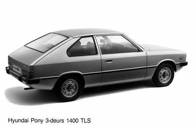 1983 Hyundai Pony 1400TLS Factory Photo Korea ua3483-FKULZN