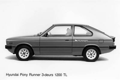 1983 Hyundai Pony Runner 1200TL Factory Photo Korea ua3486-1UBB38