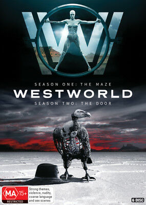 Westworld: Season 1 - The Maze / Season 2 - The Door  - DVD - NEW Region 4