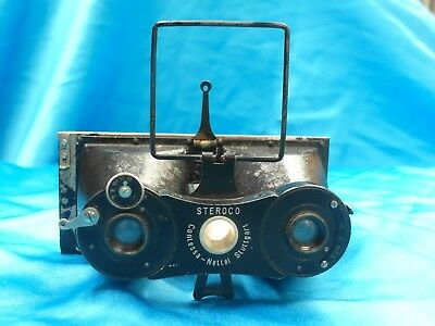 Contessa Nettel Steroco Camera  Original model with case film holders and film p