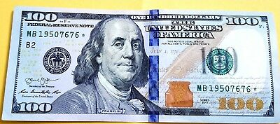 100 Dollar Bill *STAR EDITION* FEDERAL RESERVE NOTE Cool Serial  *MAKE OFFER*