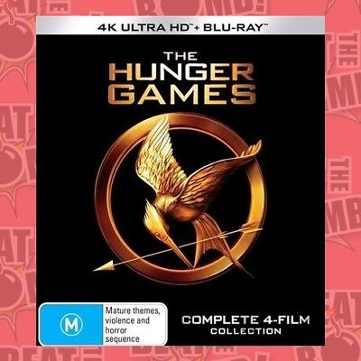 The Hunger Games: Complete 4-Film Collection (Hunger  . - BLU-RAY - NEW Region B