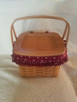 Longaberger Hostess Weekender Basket With liner and protectors