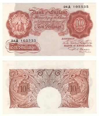 Bank of England 10 Shillings Replacement note - BYB ref: BE29 - UNC.