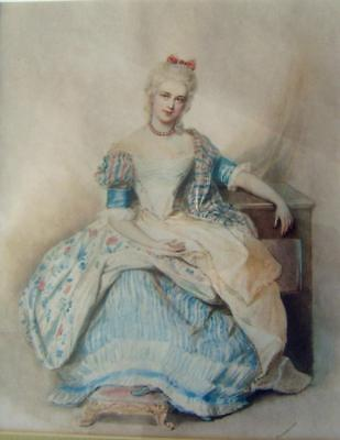 Small Portraits  A Beautiful Seated Lady Facing English School W/Col Early 19Thc