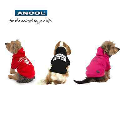 Ancol Dog Winter Hoodie Warm Cute Puppy Jacket Jumper Sweater Clothing Clothes