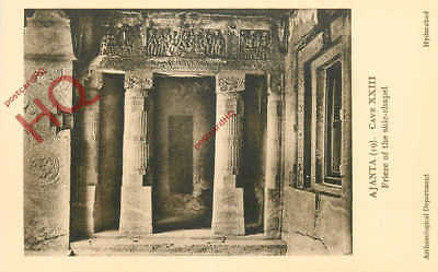 Postcard~ Hyderabad Archaeology Department, Ajanta, Cave Xxiii, Side-Chapel
