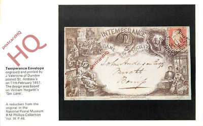 Picture Postcard~ National Postal Museum, Temperance Envelope