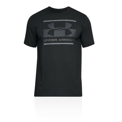 Under Armour Mens UA Blocked Sportstyle Logo T Shirt Tee Top Black Sports Gym
