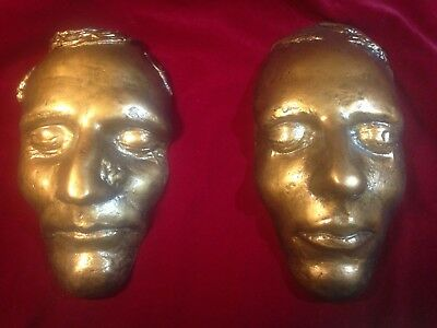 Vintage Bronze Joseph Smith and Hyrum Smith Death Masks LDS Mormon Rare Scarce