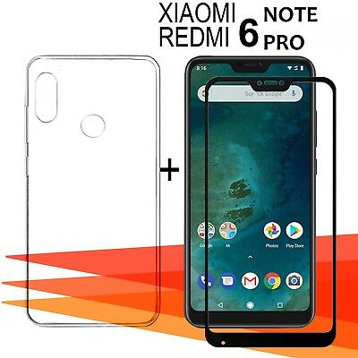 "Xiaomi Redmi Note 6 Pro 6,26"" Protector glass glass tempered full + cover"