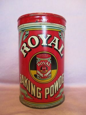 ~ Vintage 1938 Large ROYAL BAKING POWDER TIN~ 12 Oz. ~ Very Nice Condition!