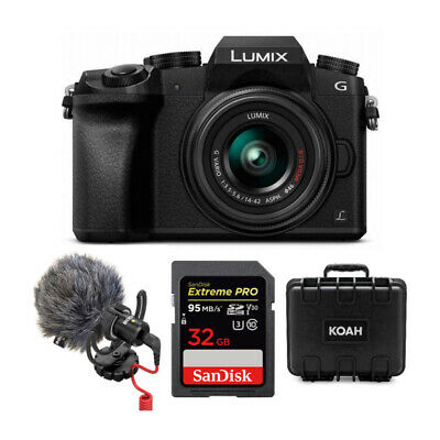 Panasonic LUMIX G7 4K Mirrorless Camera with 14-42mm Lens (Black) Bundle
