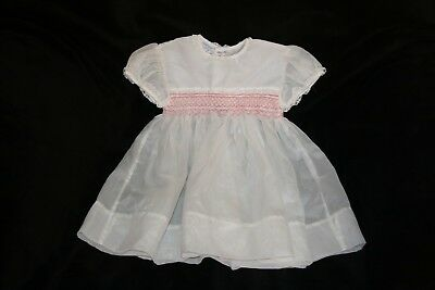 Vintage Eltain Wear girls smock hand finished baby's smock