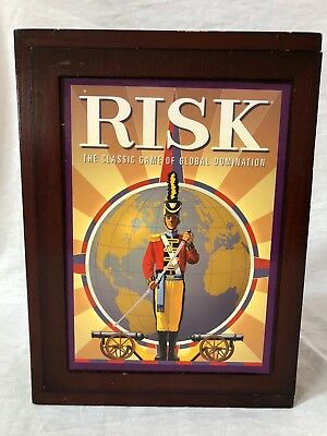 Hasbro RISK Vintage Game Collection Wooden Wood Bookshelf Game board New Sealed