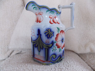 Gaudy Welsh SHANGHAI Pattern Dresser Jug 7 inch height