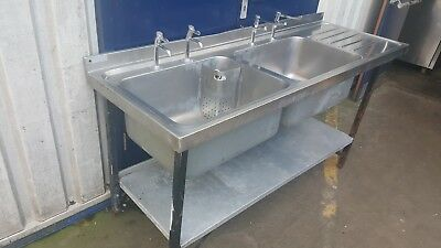 1.8m Double Bowl Deep Catering Stainless Still Sink