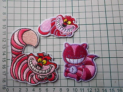 Alice in Wonderland, Cheshire Cat Embroidered Iron / Sew on Patch Applique Badge