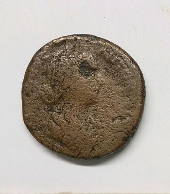 Lucilla Sestertius Vesta at altar 161-169 ancient Roman Empire coin