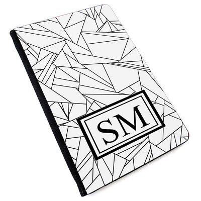 Personalised INITIALS MARBLE Printed PU Leather Passport Cover -176
