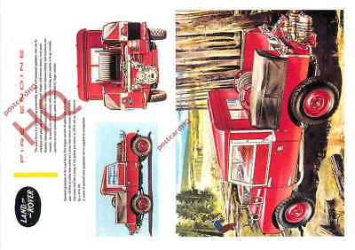 Picture Postcard:-LAND ROVER FIRE ENGINE (REPRO)