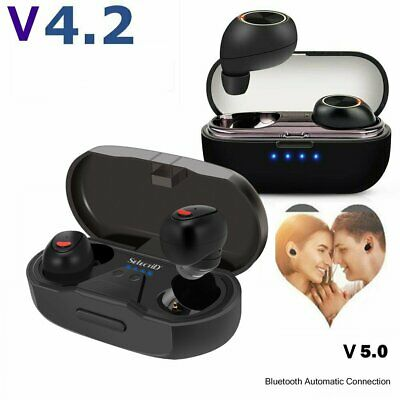 Twins Wireless Bluetooth 4.2 Stereo Sport In Ear Headset Earbuds with Charge Box