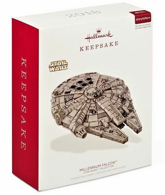 Hallmark 2018 Star Wars Millennium Falcon Storytellers Ornament Light & Sound(6)