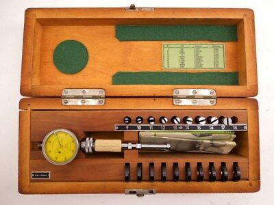 "Alina Bore Test Gauge Set No. 2 In Box With Instructions.158"" - .404"" From M.I.T"