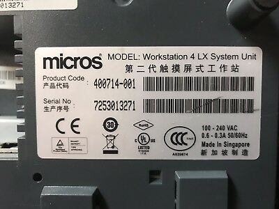 """Micros Workstation WS4 LX 12.1"""" Touchscreen System - USED"""