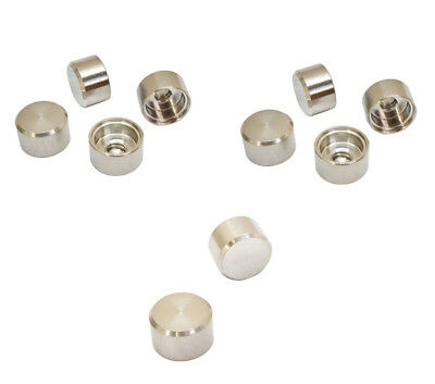 """10 PCs Stainless Steel T316 Cable Railing RH 1/4""""-20 Thread Flat Dome Cap Nut"""
