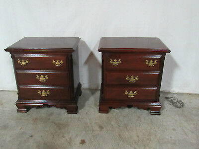 Pair Nightstands Sumter Cabinet Company Solid Cherry