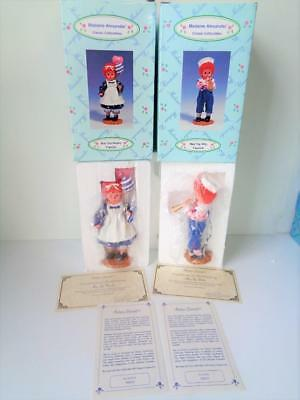 Madame Alexander MOP TOP BILLY & WENDY Figurine Dolls in Box COA