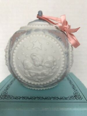Lladro 1990 Christmas Ball Ornament Porcelain Handmade From Valenica Spain