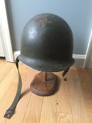 WWII American Helmet with Liner! Very Nice Condition!